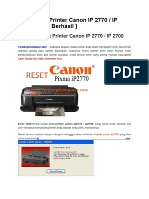 Cara Mengatasi Printer Canon Ip2770 Lampu Kuning Berkedip : mengatasi, printer, canon, ip2770, lampu, kuning, berkedip, Reset, Printer, Canon