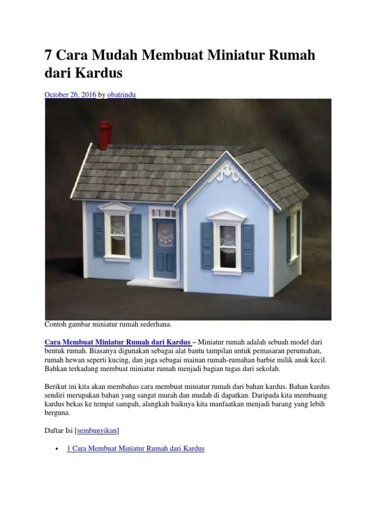 Sketsa Miniatur Rumah Dari Kardus : sketsa, miniatur, rumah, kardus, Gambar, Membuat, Rumah, Barbie, Kardus, Bekas, Gratis, Terbaik