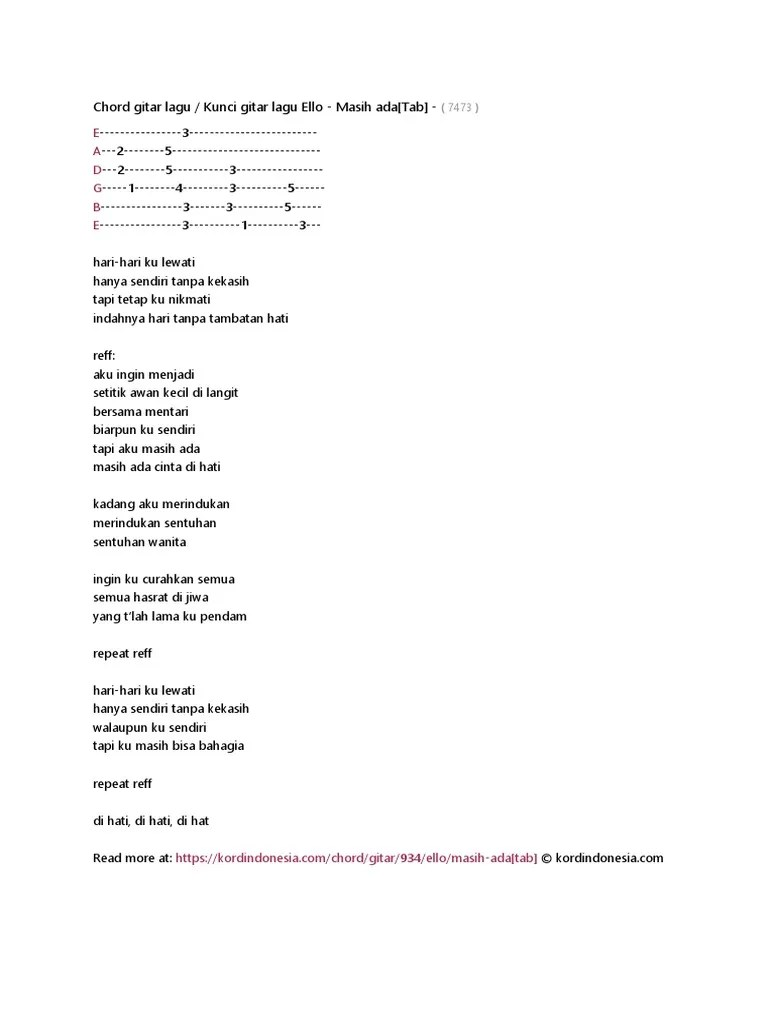 Download Lagu Ello Masih Ada : download, masih, Chord, Gitar, Masih