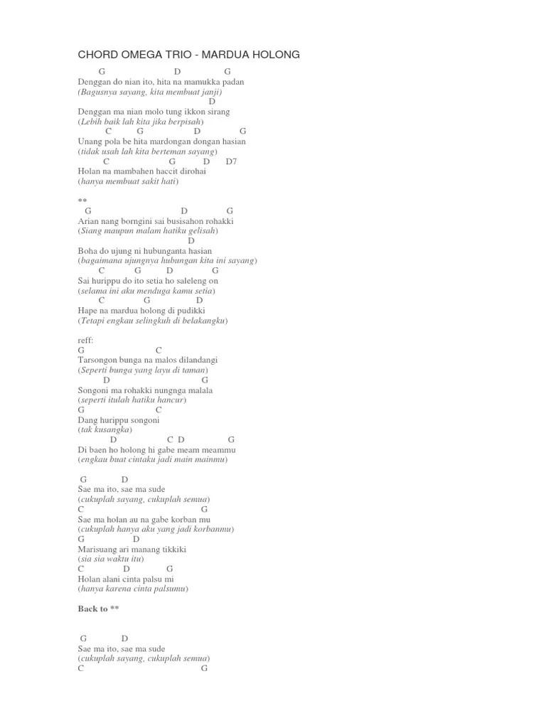 Bunga Ni Holong Chord : bunga, holong, chord, Chord, Omega, Mardua, Holong