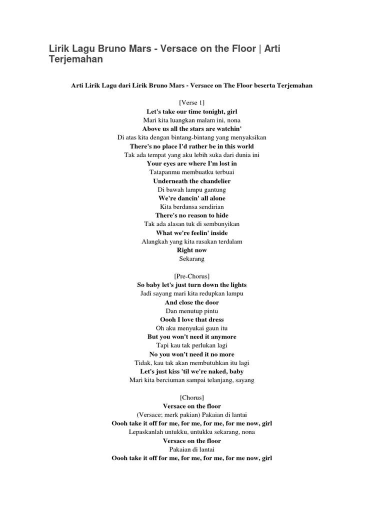 Lirik dan Kord Kunci Gitar Versace On The Floor