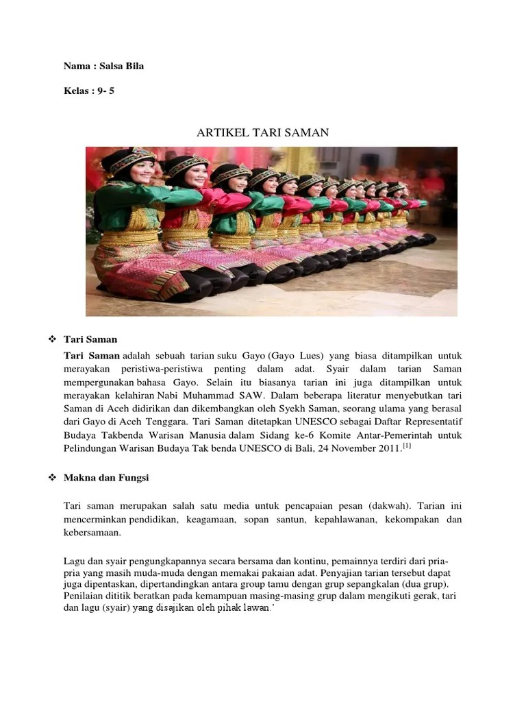 Deskripsi Tentang Tari Saman : deskripsi, tentang, saman, Artikel, Saman