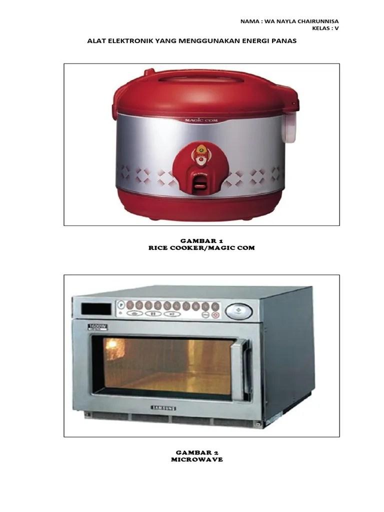 Gambar Benda Elektronik : gambar, benda, elektronik, Elektronik, Menggunakan, Energi, Panas