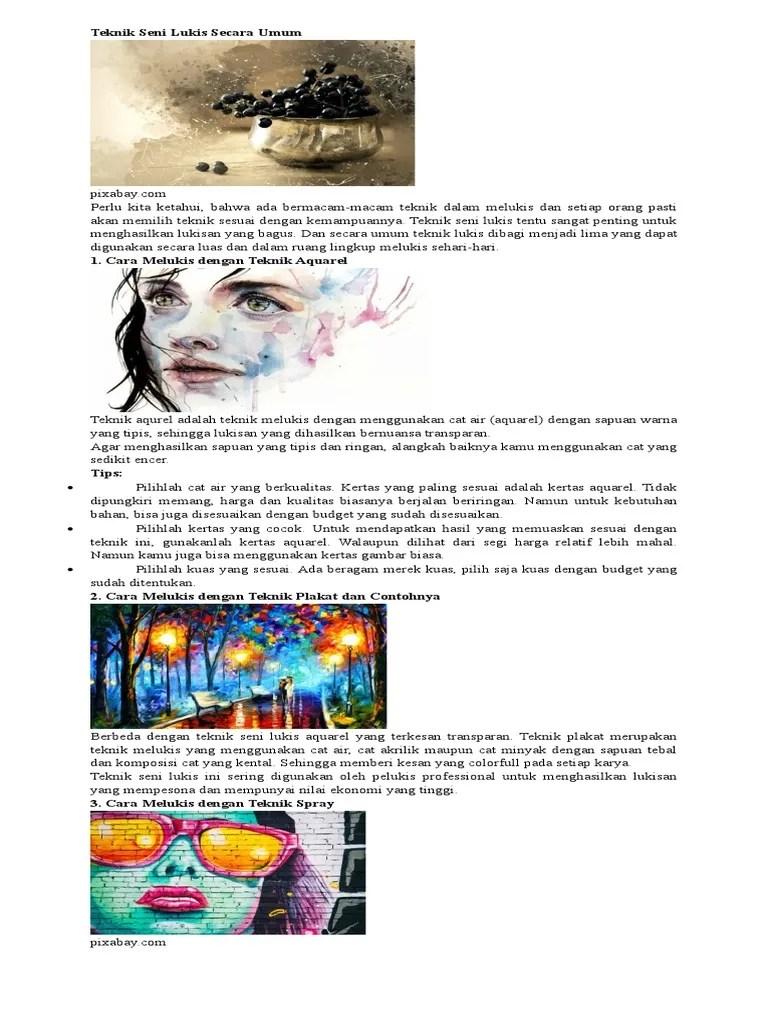 Langkah Langkah Melukis Dengan Teknik Plakat : langkah, melukis, dengan, teknik, plakat, 292841628, Budaya, Kelas