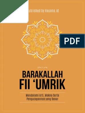Barakallah Fii Umrik Arti : barakallah, umrik, 4684-7449-1-SM
