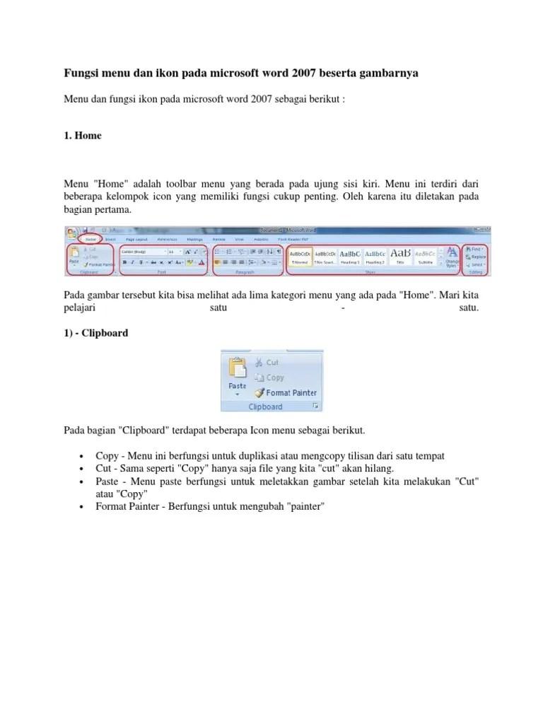Fungsi Ikon Pada Microsoft Word 2007 Beserta Gambarnya : fungsi, microsoft, beserta, gambarnya, Fungsi, Microsoft, Beserta, Gambarnya
