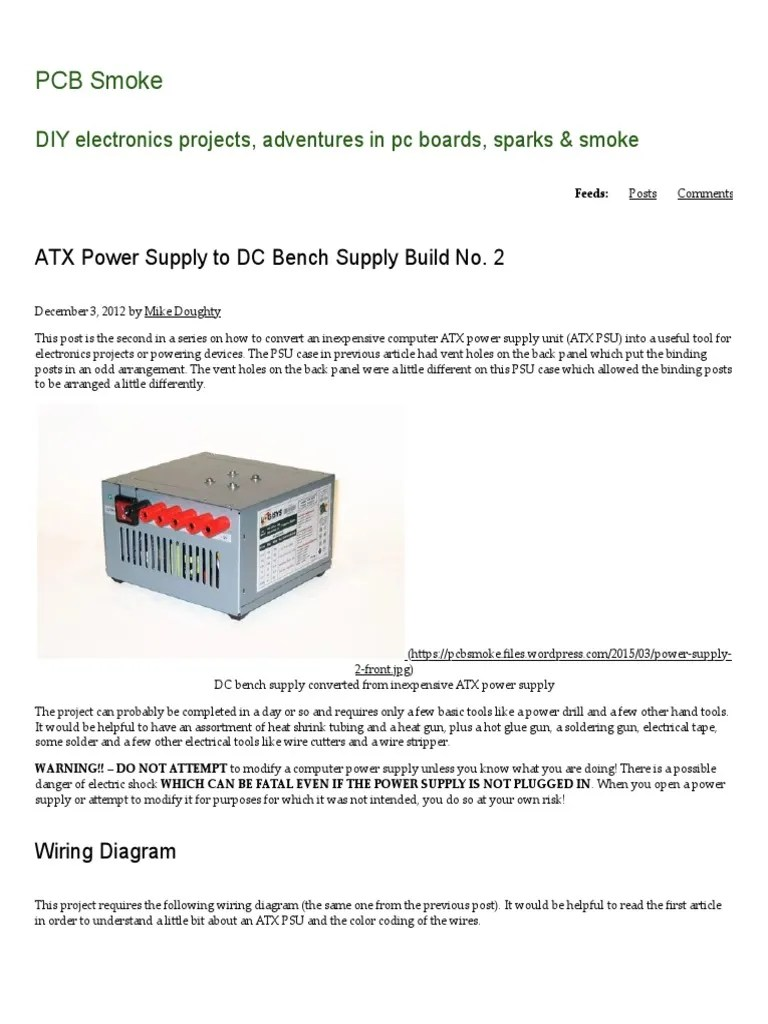 hight resolution of atx power supply to dc bench supply build no 2 pcb smoke resistor electrical connector