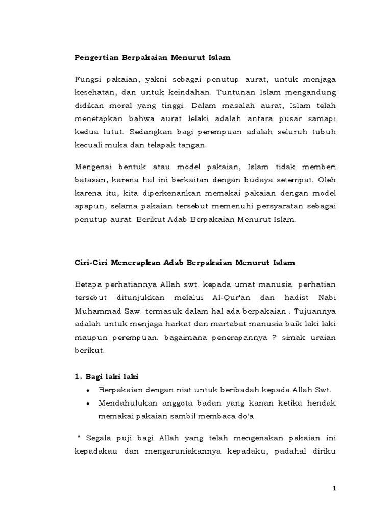 Fungsi Pakaian Menurut Syariat Islam : fungsi, pakaian, menurut, syariat, islam, Berpakaian, Menurut, Islam, Verawati