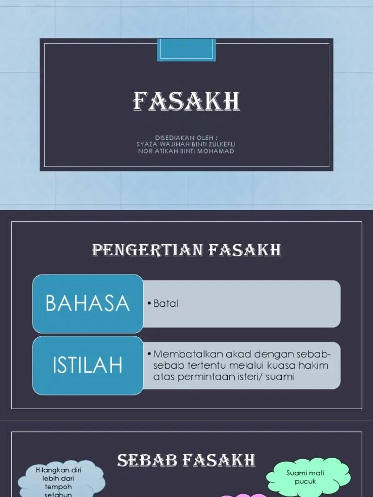 Pengertian Fasakh : pengertian, fasakh, FASAKH