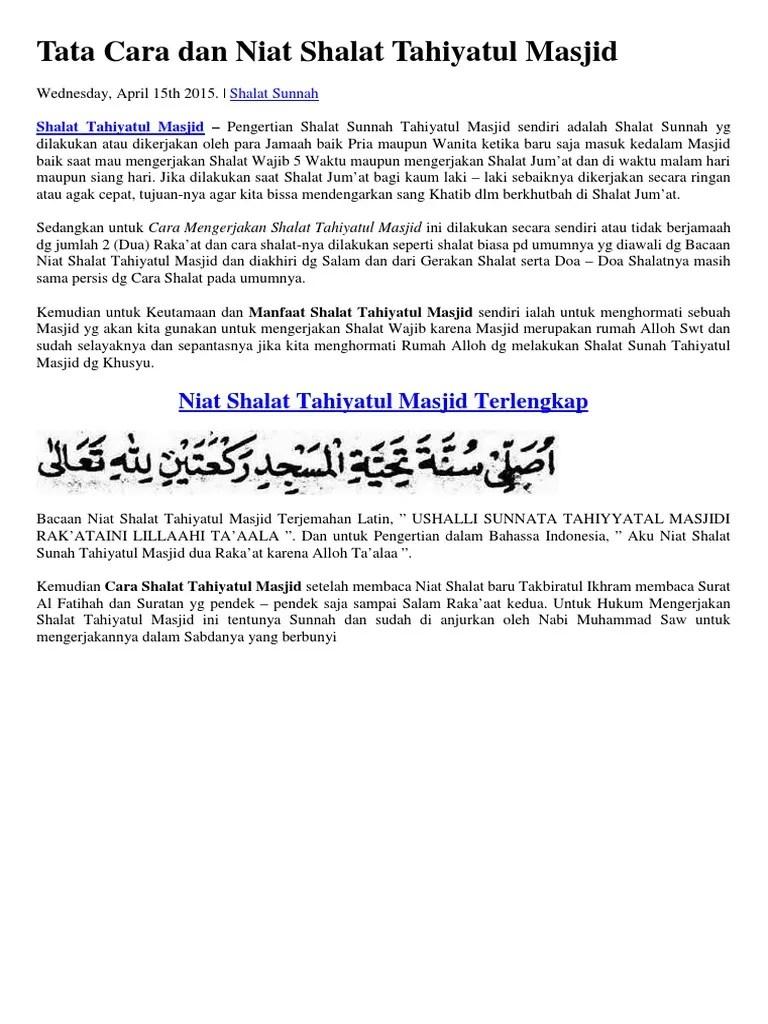 Doa Setelah Salam Ke Kanan Dan Ke Kiri : setelah, salam, kanan, Bacaan, Shalat, Sunnah, Document, Lasopacareers