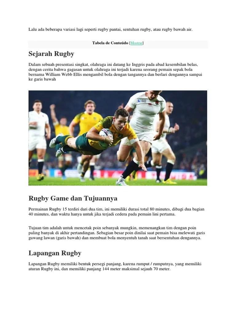 Sejarah Rugby : sejarah, rugby, Keamanan, Rugby