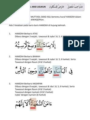 Mad Wajib : wajib, Wajib, Muttasil, Lisukun