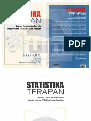 1 f statistik terapan dalam ilmu kesehatan masyarakat oleh : Statistika Terapan 2015 Kadir Fitk Unlocked Pdf