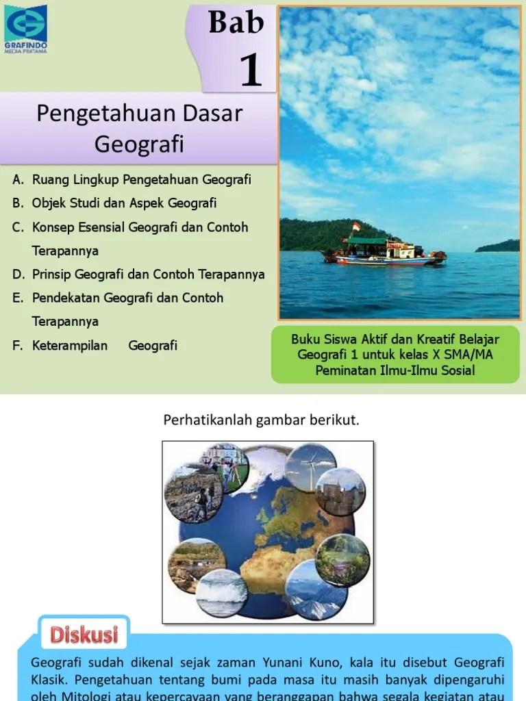 Pendekatan Geografi Dan Contoh : pendekatan, geografi, contoh, Geografi, X.pptx