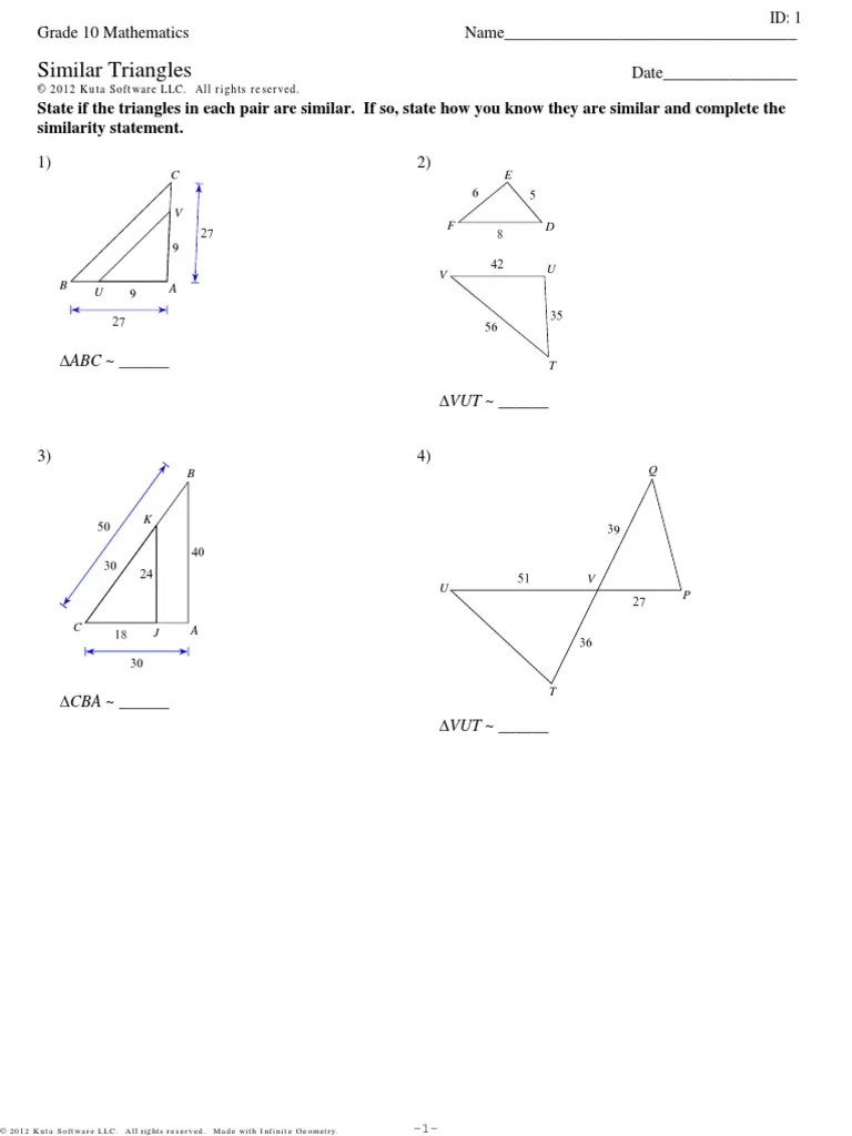 medium resolution of Similar Triangles   Euclid   Polytopes