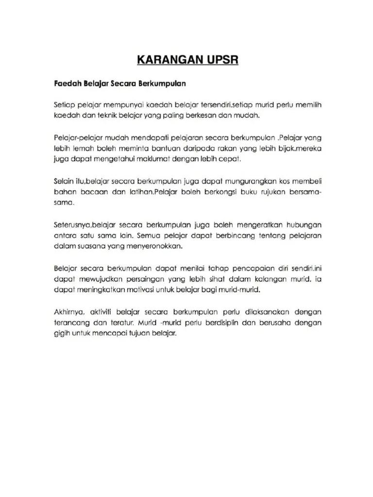 Contoh Karangan Upsr Info Wisata Hits