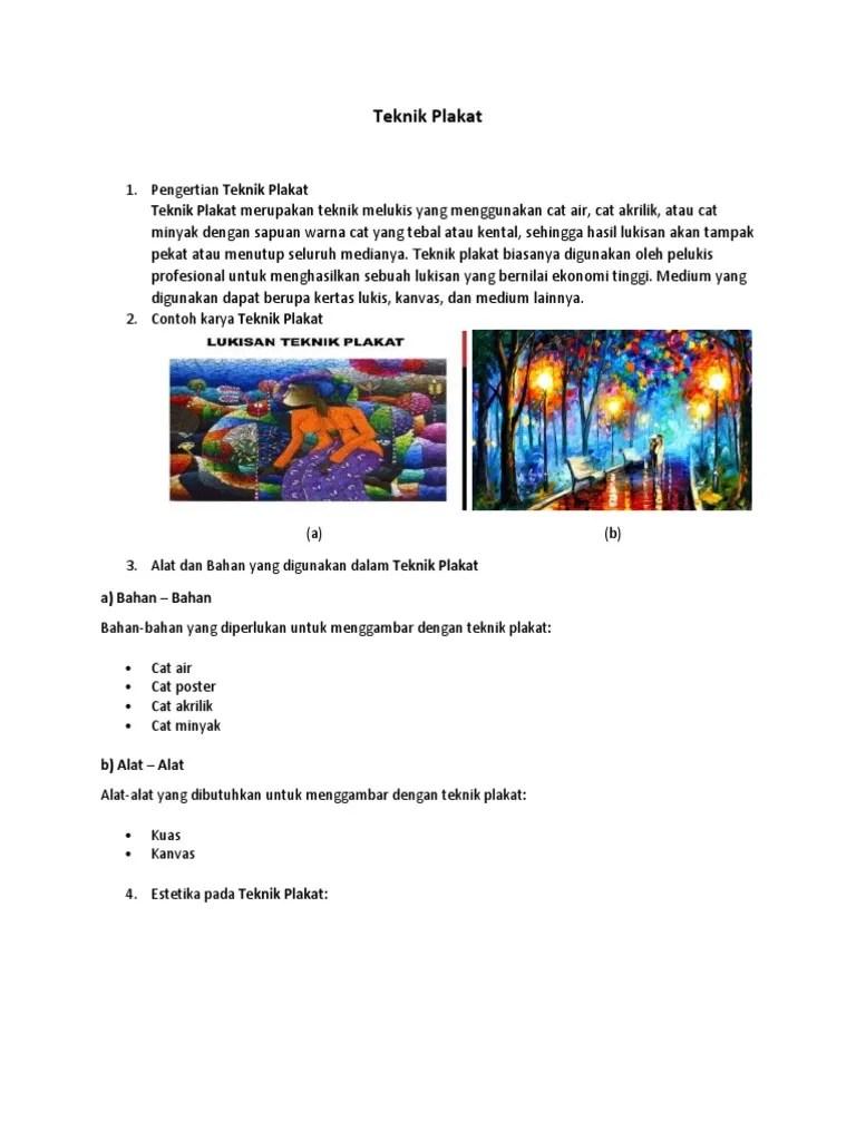 Langkah Langkah Melukis Dengan Teknik Plakat : langkah, melukis, dengan, teknik, plakat, Melukis, Dengan, Poster, Contoh