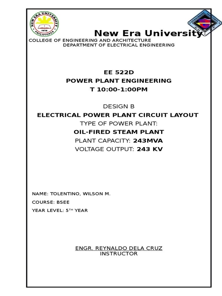 hight resolution of power plant circuit layout