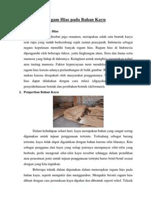 Penerapan Ragam Hias Pada Bahan Kayu : penerapan, ragam, bahan, Ragam, Bahan