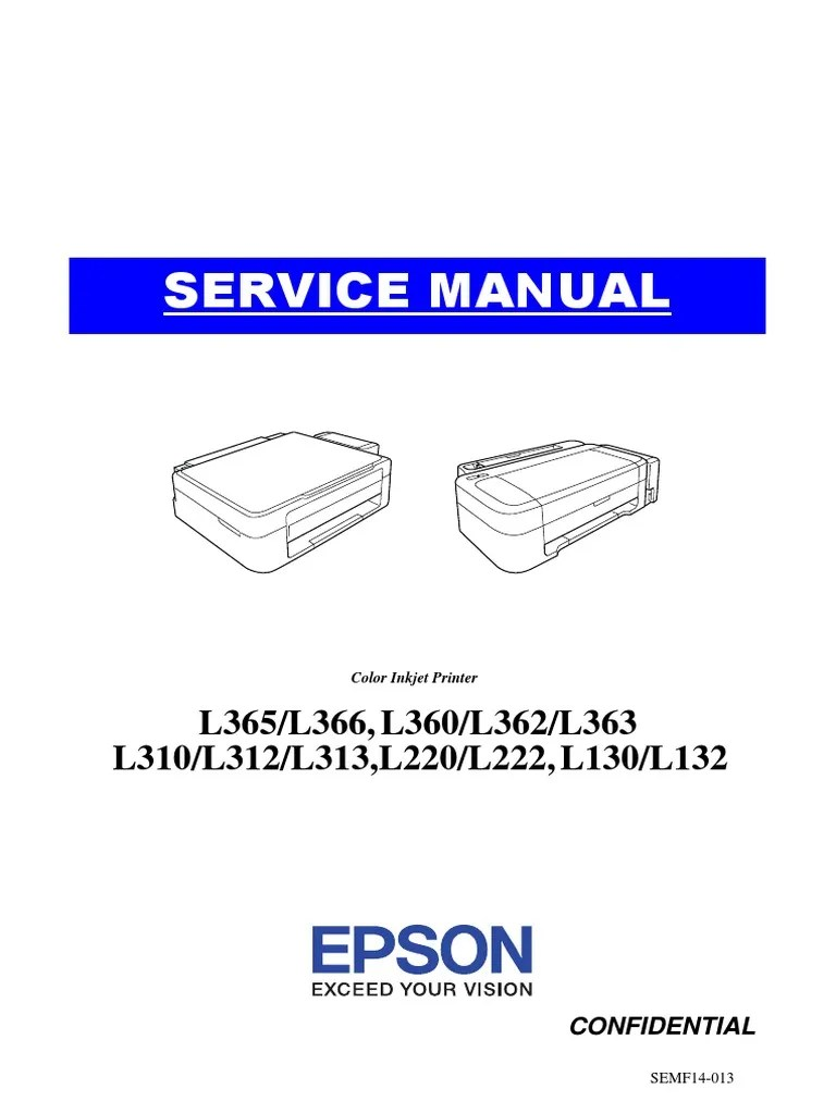 Epson L365 Wifi Setup : epson, setup, Epson, Service, Manual, Troubleshooting, Printer, (Computing)