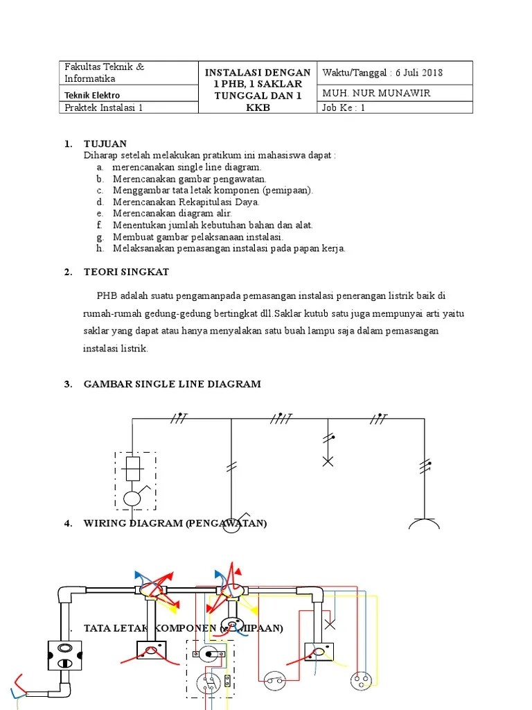 penerangan gambar single line wiring diagram [ 768 x 1024 Pixel ]