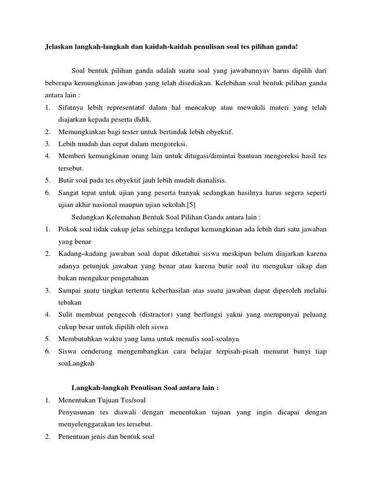 Langkah-langkah Dan Kaidah-kaidah Penulisan Soal Tes Pilihan Ganda : langkah-langkah, kaidah-kaidah, penulisan, pilihan, ganda, Kaidah2, Pilihan, Ganda