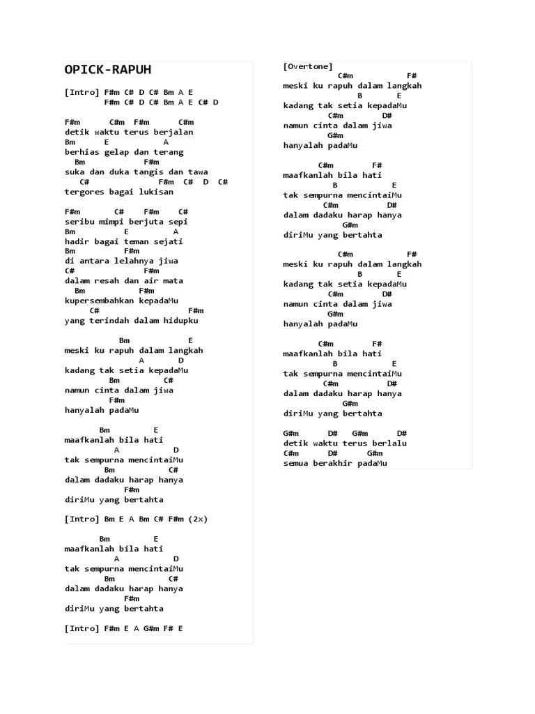 Ora Masalah Chord : masalah, chord, Chord, Gitar, Masalah, Kenangan