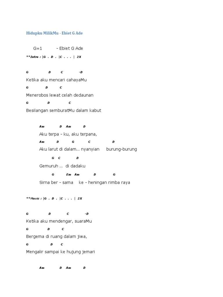 Chord kunci gitar terlanjur cinta st 12 ft sembilan band chord. Kunci Gitar Pdf