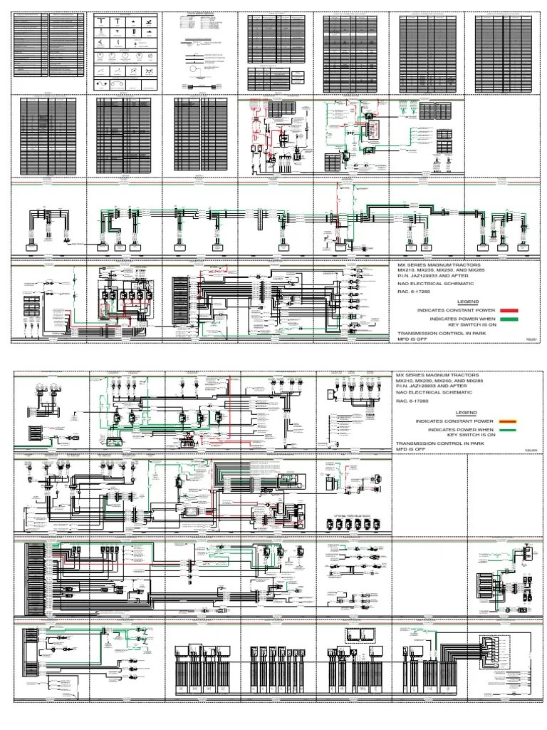 hight resolution of case ih schematic electrical 6 17260 mx210 mx230 mx255 mx285 private transport vehicles