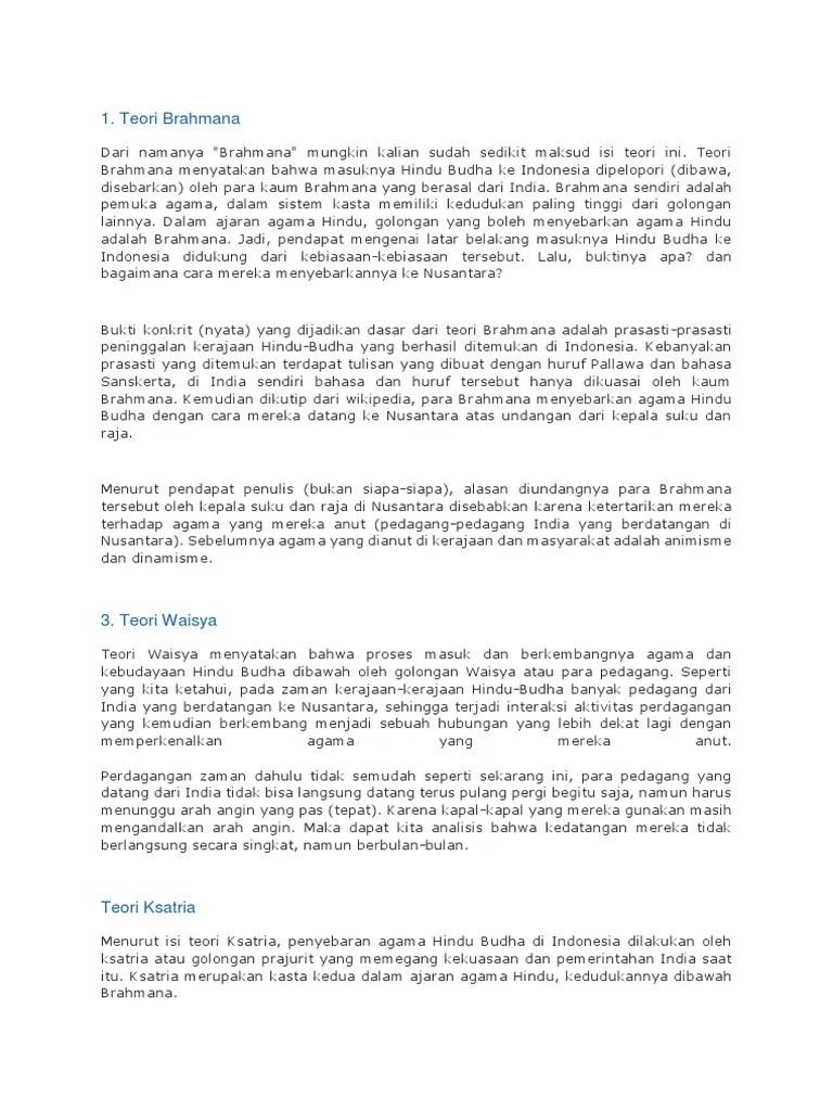 Teori Masuknya Agama Hindu Budha Ke Nusantara : teori, masuknya, agama, hindu, budha, nusantara, Teori, Masuknya, Agama, Hindu-Budha, Indonesia