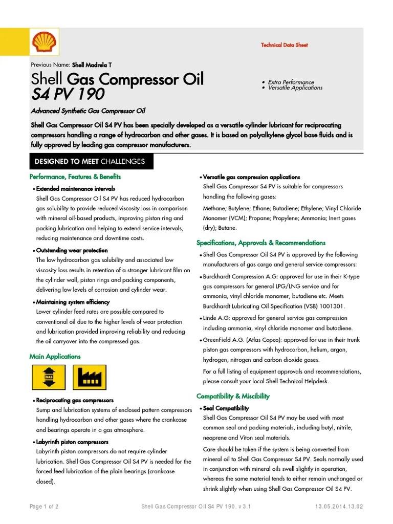 shell gas compressor oil