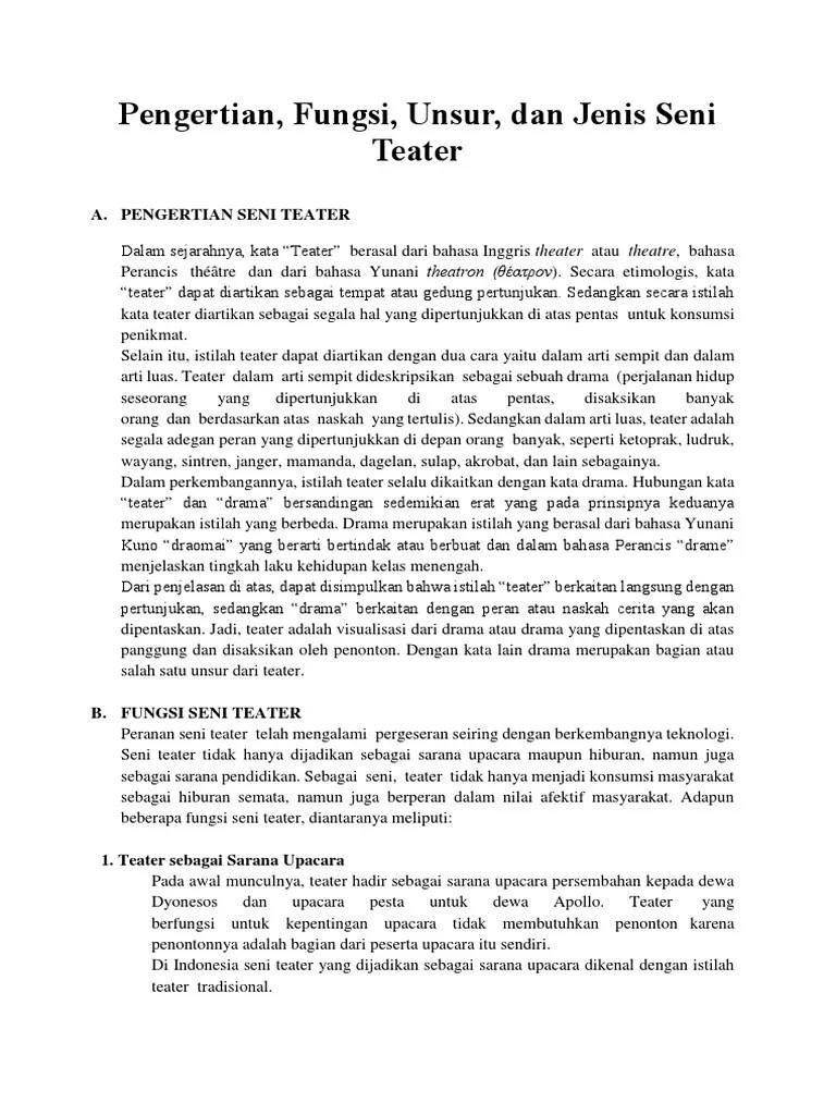 Unsur Seni Teater : unsur, teater, Unsur, Teater
