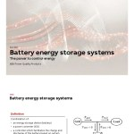 Abb Battery Energy Storage System Energy Storage Electrical Grid