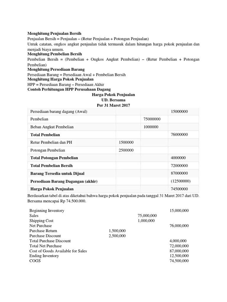 Menghitung Pembelian Bersih : menghitung, pembelian, bersih, Menghitung, Penjualan, Bersih.docx