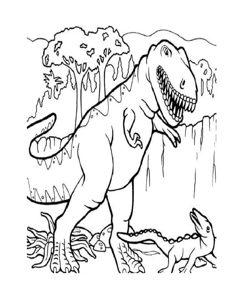 Mewarnai Dinosaurus T Rex : mewarnai, dinosaurus