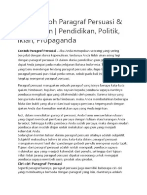 Pengertian Wacana Persuasi : pengertian, wacana, persuasi, Contoh, Paragraf, Persuasif, Tentang, Pendidikan