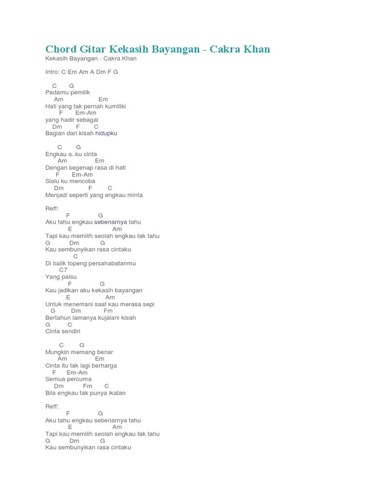Chordtela Kekasih Bayangan : chordtela, kekasih, bayangan, Chord, Gitar, Kekasih, Bayangan, Kenangan