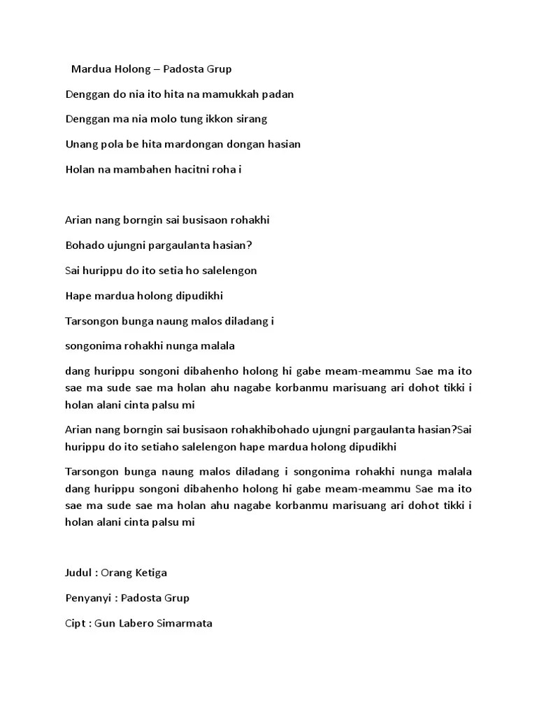 Arti Lagu Mardua Holong : mardua, holong, Download, Mardua, Holong, Cover, Pigura
