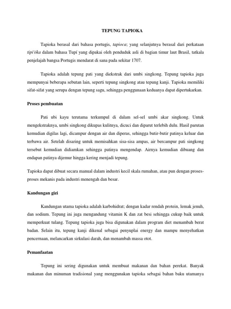 Tepung Yang Berasal Dari Ubi Kayu Disebut : tepung, berasal, disebut, TEPUNG, TAPIOKA.docx