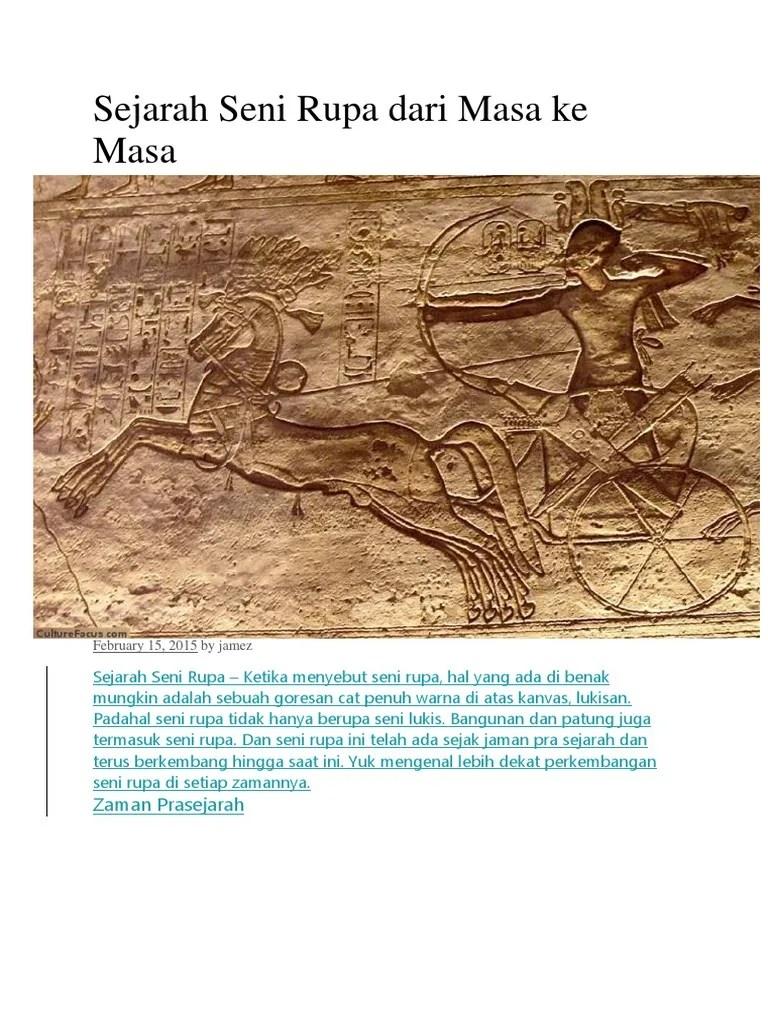 Seni Rupa Zaman Prasejarah : zaman, prasejarah, Sejarah, Masa.docx
