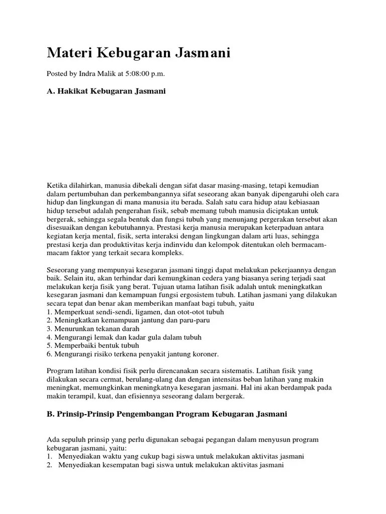 Prinsip Latihan Kebugaran Jasmani : prinsip, latihan, kebugaran, jasmani, Materi, Kebugaran, Jasmani.docx
