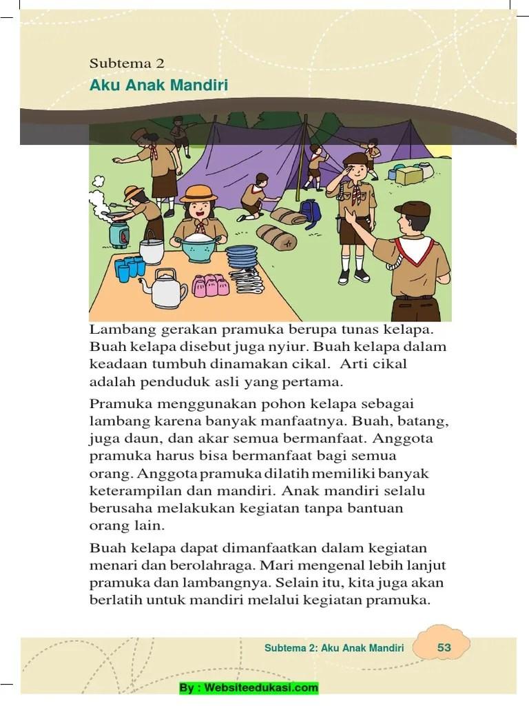 Apa Saja Tanda Pengenal Yang Dimiliki Siti Dan Lani : tanda, pengenal, dimiliki, Materi, Kelas, Subtema, Mandiri, Websiteedukasi.com.pdf