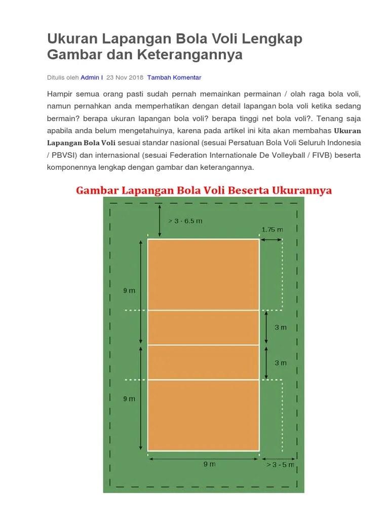 Tinggi Net Permainan Bola Voli Untuk Putra Adalah : tinggi, permainan, untuk, putra, adalah, Gambar, Beserta, Ukuran, Lapangan, Serta, Putra, Putri
