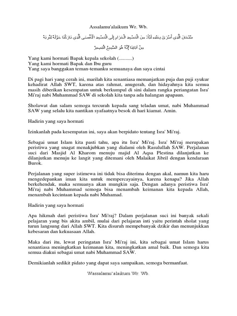 Kumpulan Ceramah Agama Islam , Isra' Mi'raj Nabi Muhammad SAW...