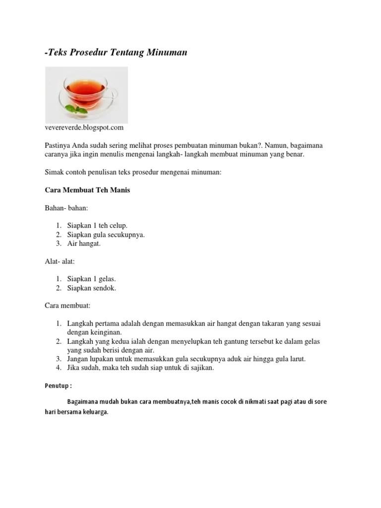 Contoh Teks Prosedur Membuat Minuman Segar : contoh, prosedur, membuat, minuman, segar, MAKAN.docx