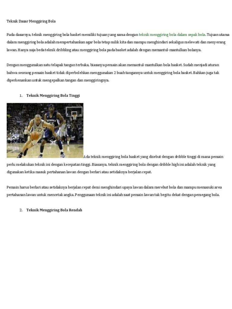Teknik Dasar Menggiring Bola Basket : teknik, dasar, menggiring, basket, Teknik, Dasar, Menggiring, Bola.docx