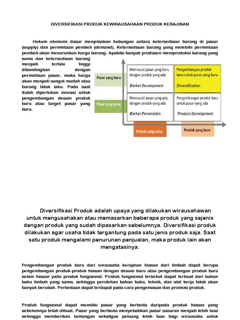 Pengembangan Produk Kerajinan Hiasan Adalah : pengembangan, produk, kerajinan, hiasan, adalah, DIVERSIFIKASI, PRODUK, KEWIRAUSAHAAN, KERAJINAN.docx