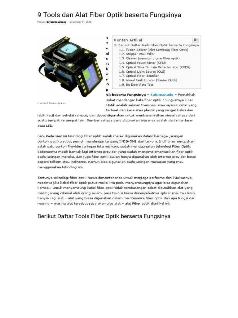 Alat Alat Power Tools Beserta Fungsinya : power, tools, beserta, fungsinya, Tools, Fiber, Optik, Beserta, Fungsinya