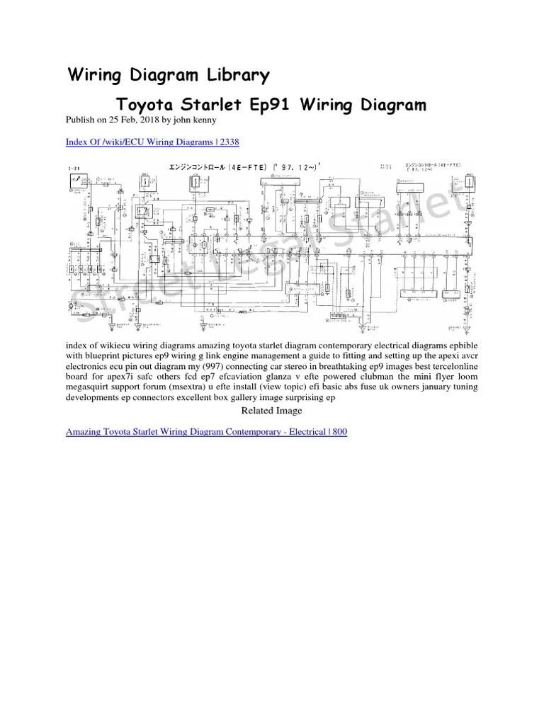 medium resolution of toyota starlet ep91 wiring diagram docx manufactured goods motor vehicle