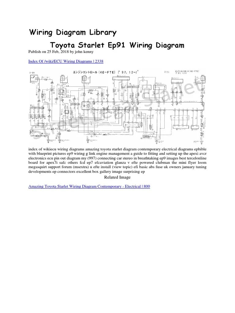 hight resolution of toyota starlet ep91 wiring diagram docx manufactured goods motor vehicle